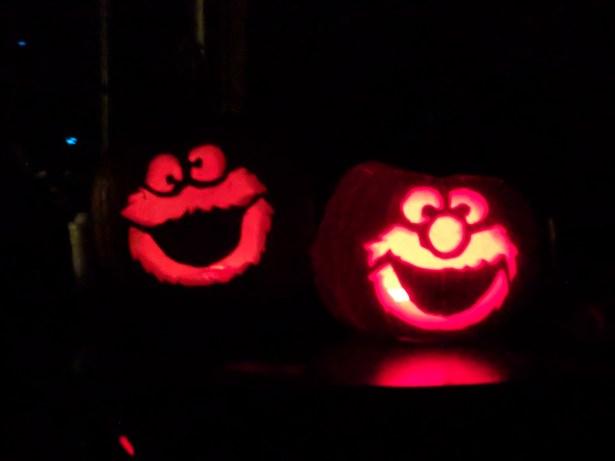 Elmo Jack o lantern too