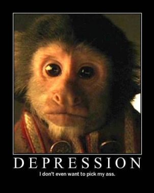 Depressed monkey