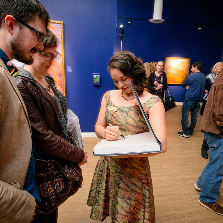 Erin Hanson gallery grand opening