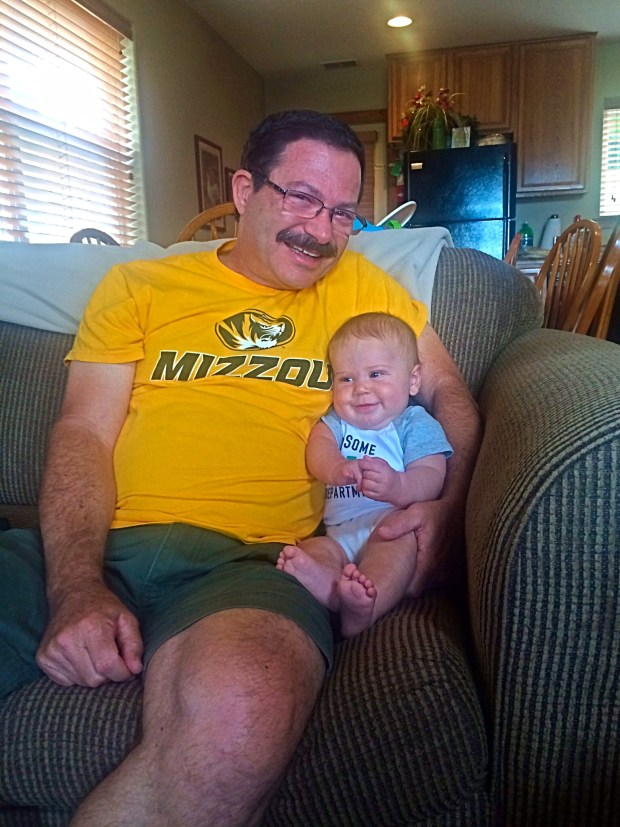 Grandpa! Ignore my dad's ugly shirt....