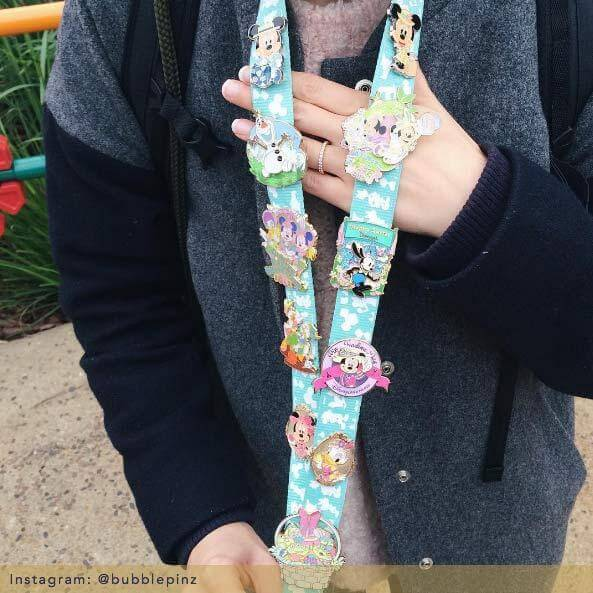 Pins on a lanyard