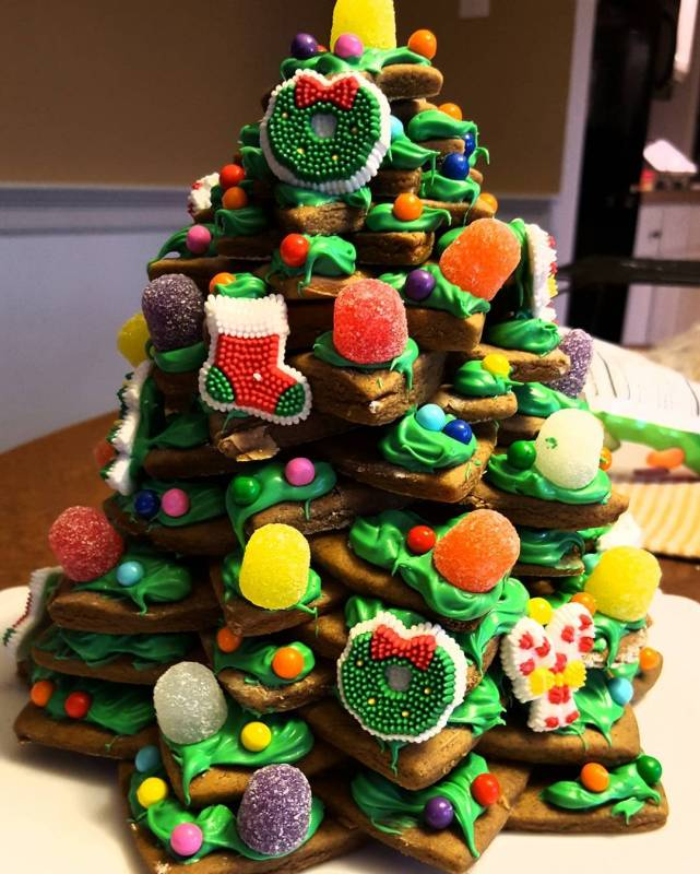 How to make a gingerbread Christmas tree as a fun kids activity