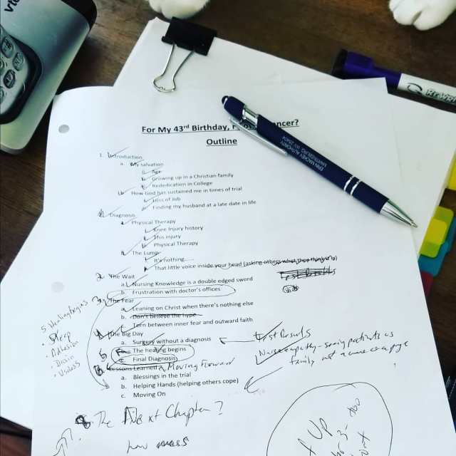 The messy notes of a writer  working on finishinghellip