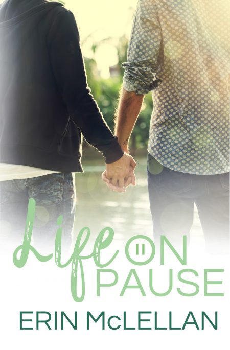 Cover of Life on Pause with two men holding hands