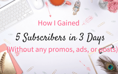 How I gained 5 new subscribers to my list in 3 days (without any active promotion or ads!)