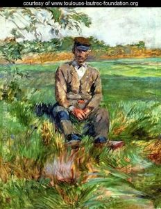 Painting: A Laborer At Celeyran by Henri de Troulouse-Lautrec