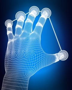 Tech Grid Hand Stock Art
