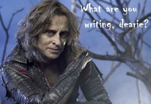 What are you writing, dearie?