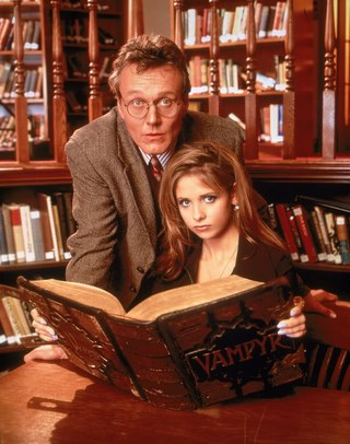 Buffy and Giles in the Library