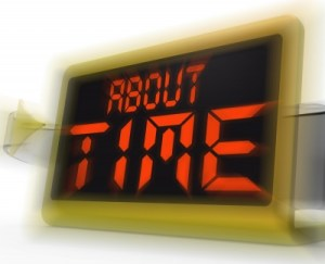 "Stock art of ""About Time"""