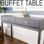 Diy Dining Room Buffet Table Console Table Tutorial Erin Spain