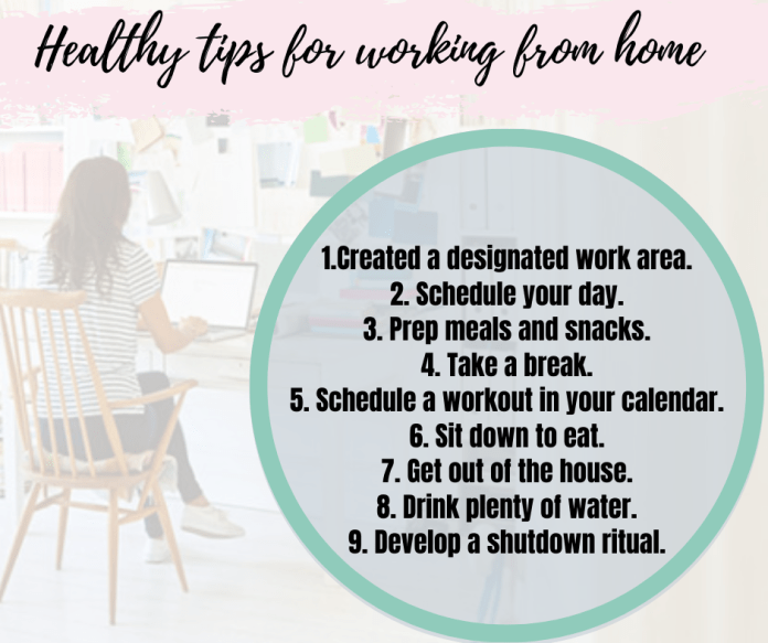 Tips For Working From Home Erin Young Fitness