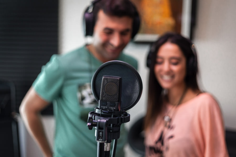 istanbul engagement session in recording studio