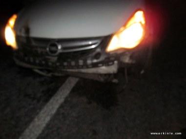 domuza çarpan aracın radyatörüne kadar ön takımında hasar var