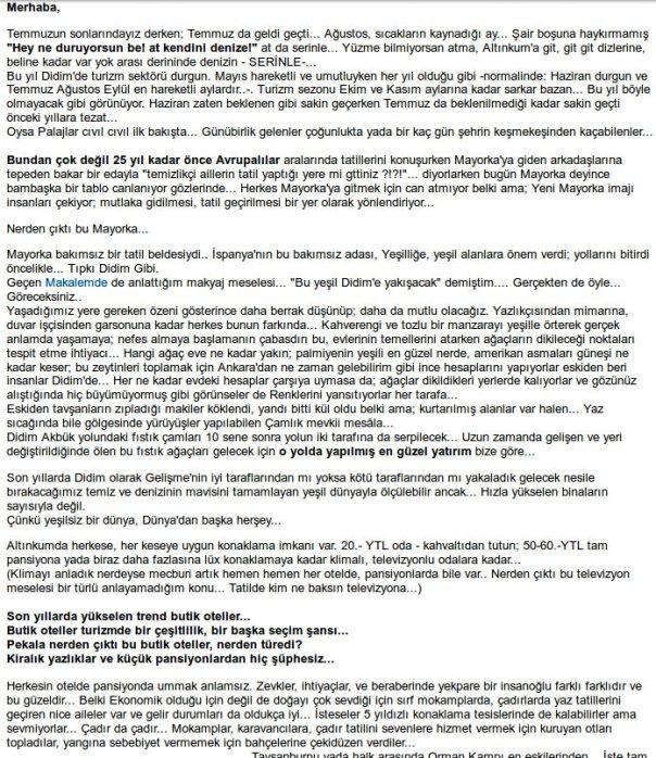 Didim Guide 18 Ağustos 2005