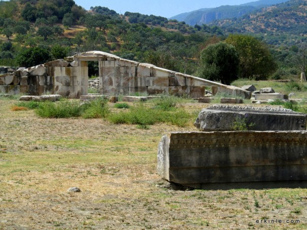 Magnesia Antik kentinde Artemis tapınağı