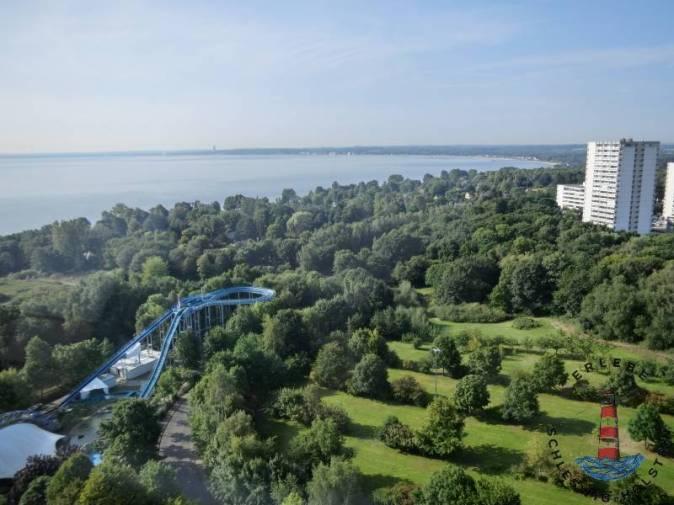 Hanspark Aussicht vom Aussichtsturm über die Ostsee