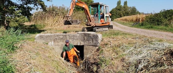 Alle Brücken zur Herrenmühle wurden nun auch, aufwendig geräumt