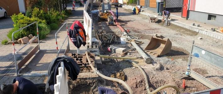 Guter Fortschritt in der Baustelle und zielführende Schadens – Begutachtung auf der ehemaligen Umleitungstrecken