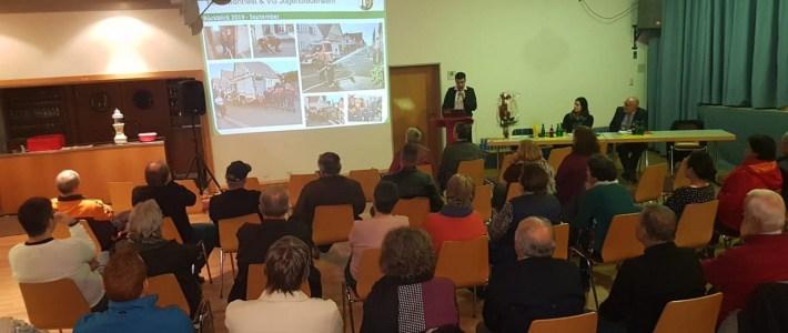 Viele Bilder prägen viele Themen auf der Einwohnerversammlung