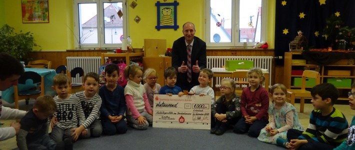 Sparkasse erfüllt Kinder(garten)wünsche