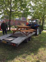 Picknickbank geplaatst in de Hoekergoorn