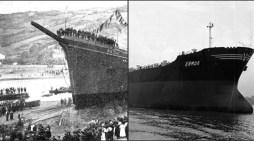 Allende de los mares surcaban las aguas el Ermua y el Rio Ego
