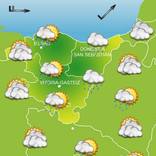 Cielos nubosos y precipitaciones durante el viernes 29