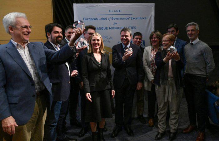 Ermua logra el ELOGE 2017, sello Europeo de Excelencia en Gobernanza