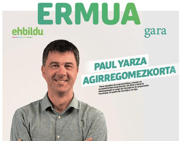 Paul Yarza encabeza la lista de EHBildu en Ermua