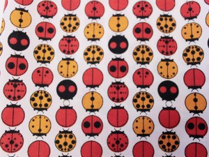 Lady Bug Birch fabric Stoff