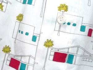 Boxershorts Birch Fabrics Houses 50'ties Knopf