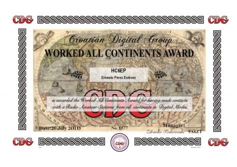 Mi certificado de WAC del CDG