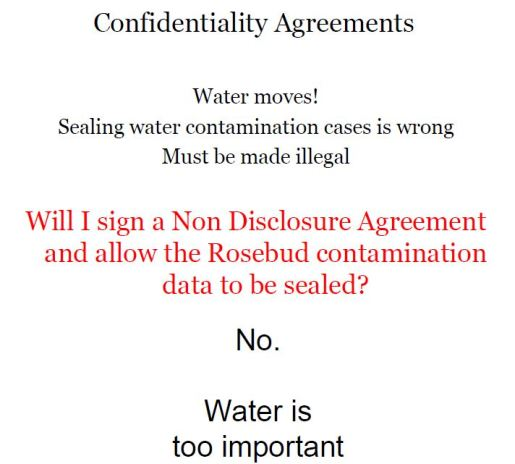 Gag orders for Water Contamination Cases Screen Capture Ernst Presentations