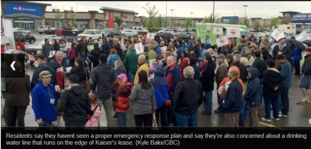 2012 06 24 screen capture protest again oil drilling and fracing in Royal Oak community of Calgary