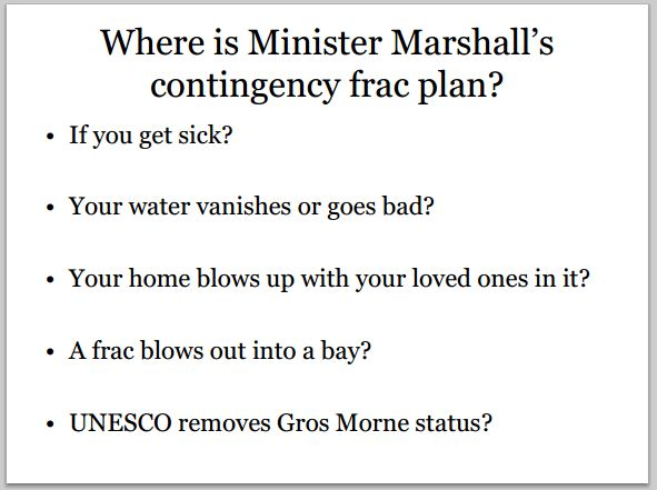 2013 09 22 Where is Nfld government's contingency frac plan