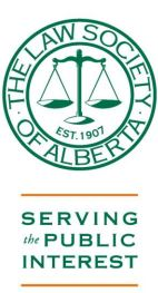 2014 11 The Law Society of Alberta, Serving the Public Interest