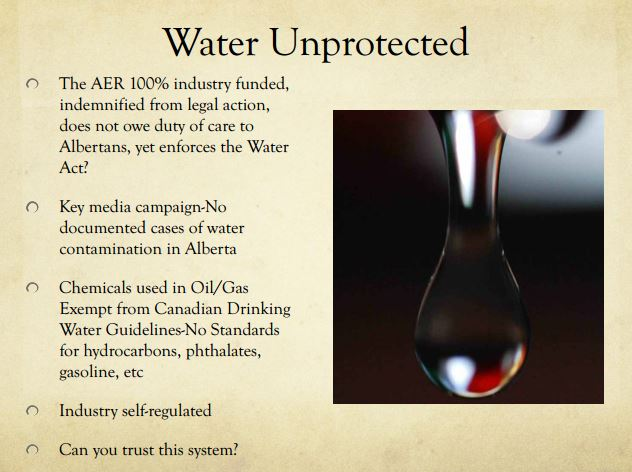 2014 03 13 Diana Daunheimer Fracturing our lives and how it affects us all Water unprotected