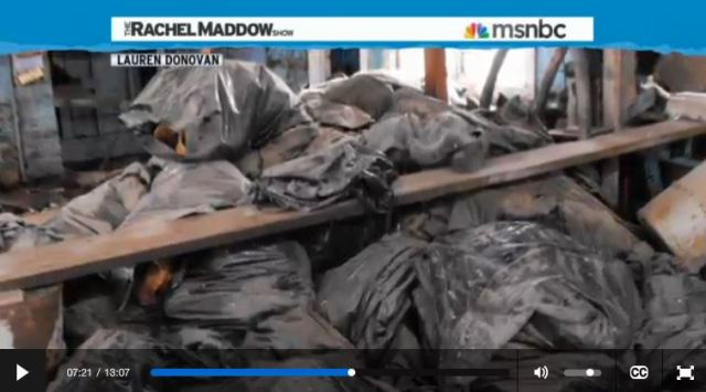 2014 03 14 Radioactive waste illegally dumped in North Dakota Rachel Maddow show abandoned gas station noonan stuffed w radioactive socks