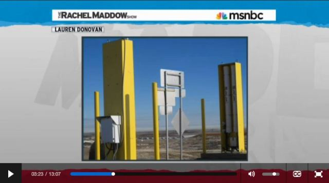 2014 03 14 Radioactive waste illegally dumped in North Dakota Rachel Maddow show giant geiger counters at oil field waste dumps