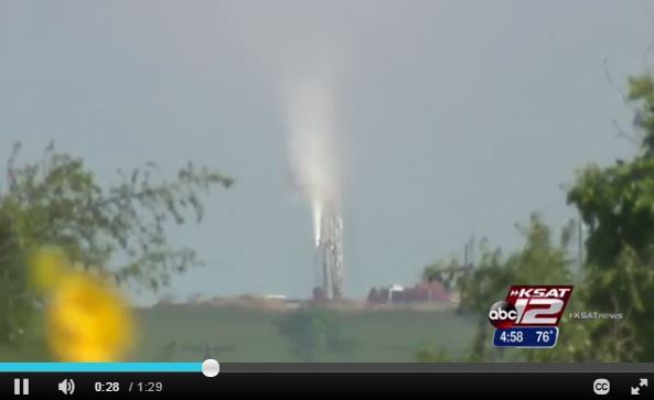 2015 05 21 Encana well blow out snap from clip by KSAT