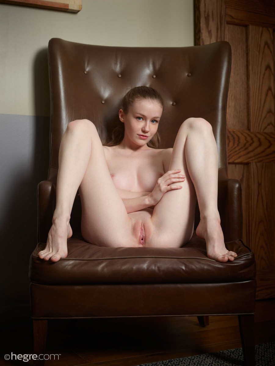 Emily Bloom #Naked In A Leather Chair 8