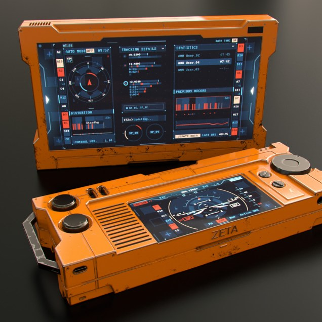Flight Controller - Sci-fi device and FUI concept