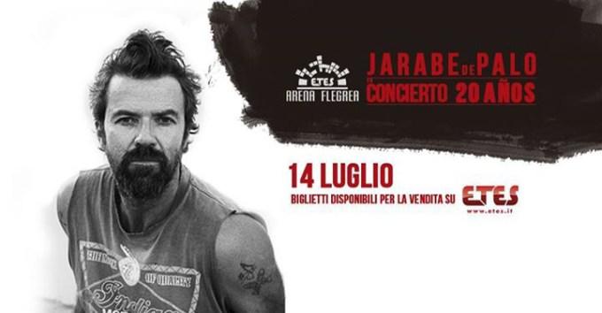 Jarabe de Palo all' Arena Flegrea musica di passione e vita
