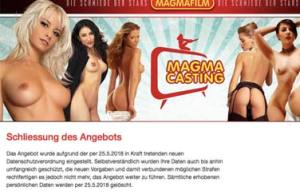 Magmacasting stellt Pornocastings ein