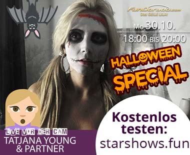Tatjana Young Freeshow mit Partner - Halloween Hardcore