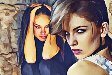 Umschnalldildo: Lesbisches Vergnügen mit einem Strapon
