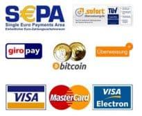 Zahlungsmethoden im Eronite DVD Versand Shop