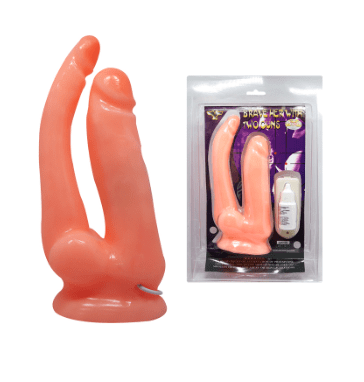 Vibrador Doble con Base de Succion Brave Her 1