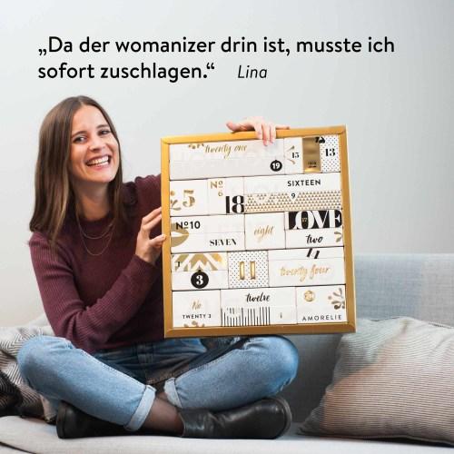 Der Amorelie Adventskalender - Garantiert ohne Schokolade, dafür mit dem Womanizer